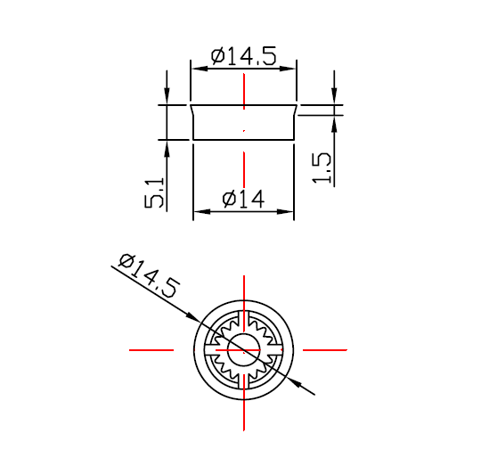 H4A-5L Shower water flow regulator drawing